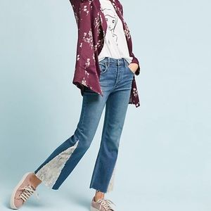 Anthropologie Pilcro High-Rise Sequined Flared